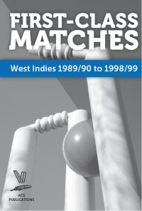 First-Class Matches West Indies 1989-90 to 1998-99