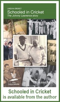 Schooled in Cricket is available from the author