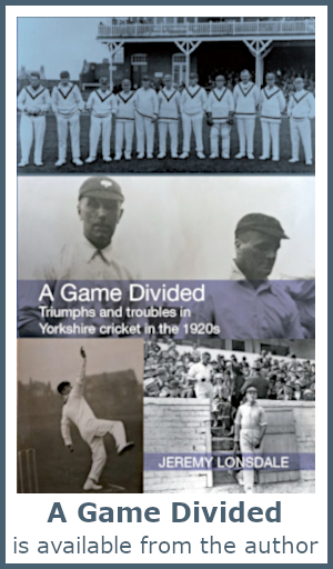 A Game Divided is available from the author