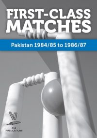 First-Class Matches Pakistan 1984/85 to 1986/87