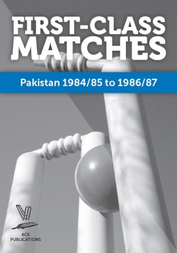 First-Class Matches Pakistan 1984/85 to 1986/87