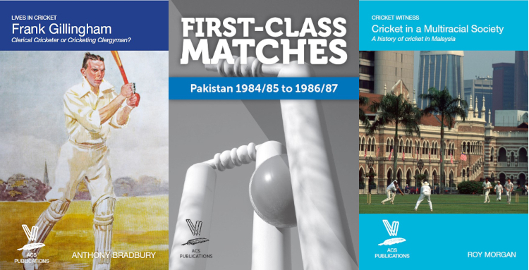 2021 Summer titles: Frank Gillingham, First-Class Matches Pakistan 1984/85 to 1986/87 and A history of cricket in Malaysia